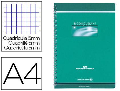 CAHIER SPIRALE - RELIURE INTEGRALE - 21X29.7 - 180PG- 5X5