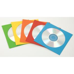 PACK DE 50 ENVELOPPES CD PAPIER COULEURS ASS