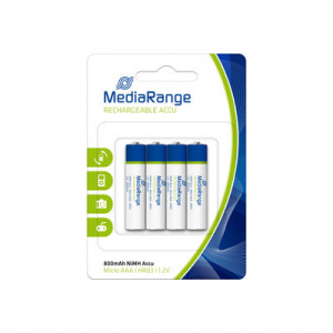 BLISTER DE 4 PILES RECHARGEABLES NiMH Accus, Micro AAA-HR03-1.2V