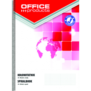 NOTEBOOK OFFICE PRODUCTS A5 SPIRALE Q5X5 160P PERFORE 2 TROUS