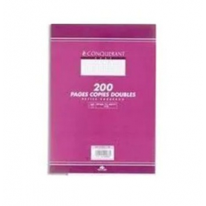 200 COPIES DOUBLES A4 Q5X5 BLANC 70G PERFOREES