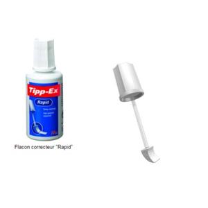FLACON CORRECTEUR TIPP-EX RAPID FLUID PINCEAU MOUSSE
