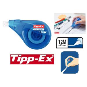 RUBAN CORRECTEUR TIPPEX EASY CORRECT DEPOSE LATERALE 4.2MMX12