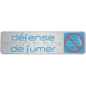 PLAQUE DE SIGNALISATION 170X45 MM DÉFENSE DE FUMER