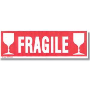 PAQUET 100 ETIQUETTE COLIS FRAGILE 190X60