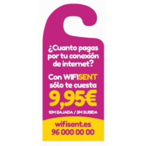 300 Accroche-Porte Publicitaire (100 Fles SRA3 230G)