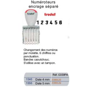 NUMEROTEUR 6 BANDES 4MM