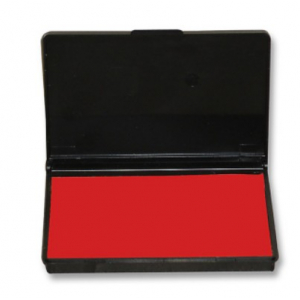 TAMPON ENCREUR PREENCREES 110X70 MM ROUGE