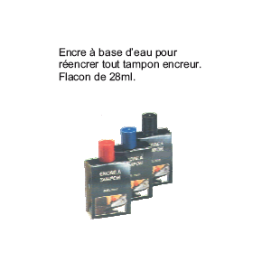 ENCRE A TAMPON 27ML ROUGE